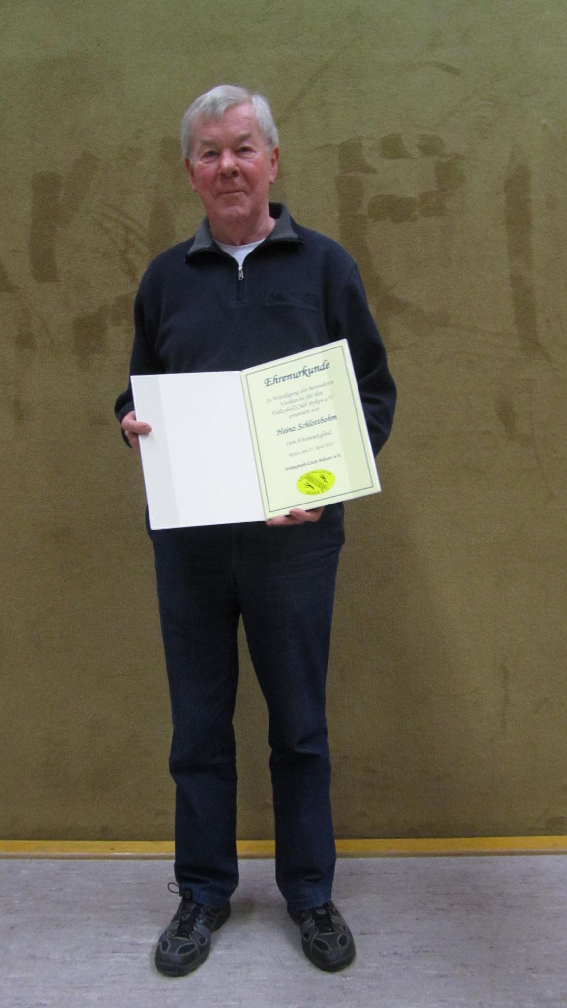 VCR Ehrenmitglied ab 2012